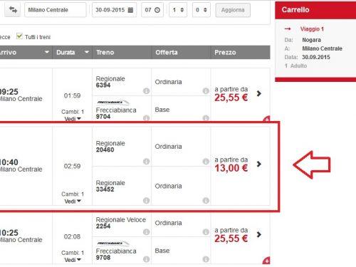 Come acquistare biglietti solo REGIONALI dal sito Trenitalia risparmiando