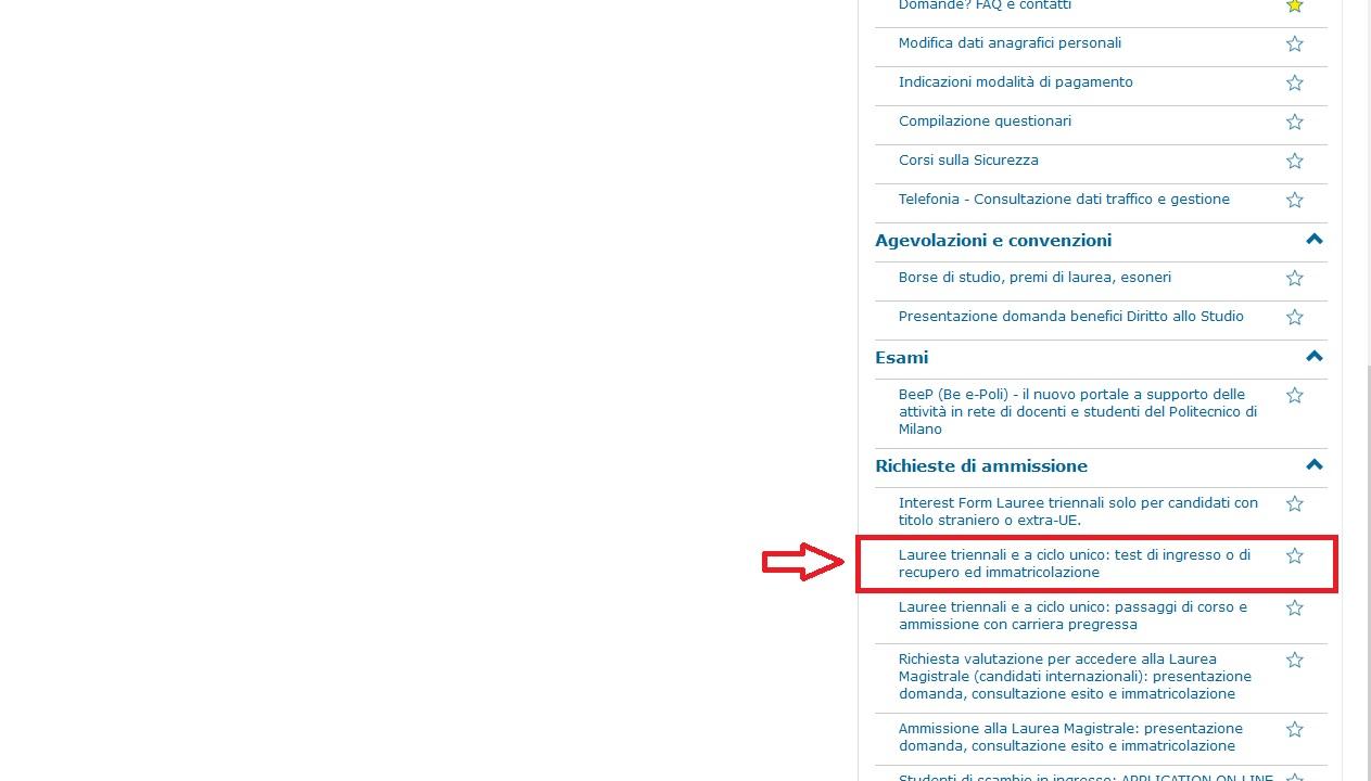 Come iscriversi ad ingegneria al politecnico di milano con for Test ammissione politecnico milano
